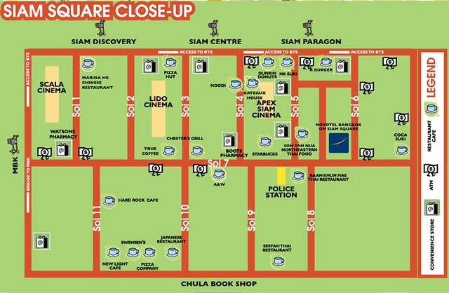 Siam Square Mall Bangkok Location Map,Location Map of Siam Square Mall Bangkok,Siam Square Mall Bangkok Accommodation Destinations Attractions Hotels Maps,siam square shopping mall soi 2 eat outdoor market post office bangkok
