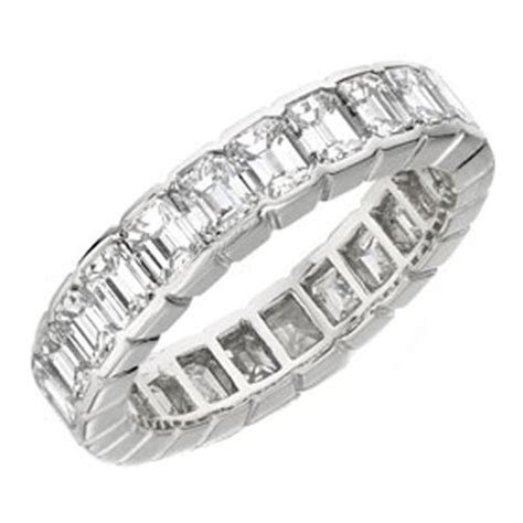 Wedding Band   Emerald Cut Diamond Eternity Wedding