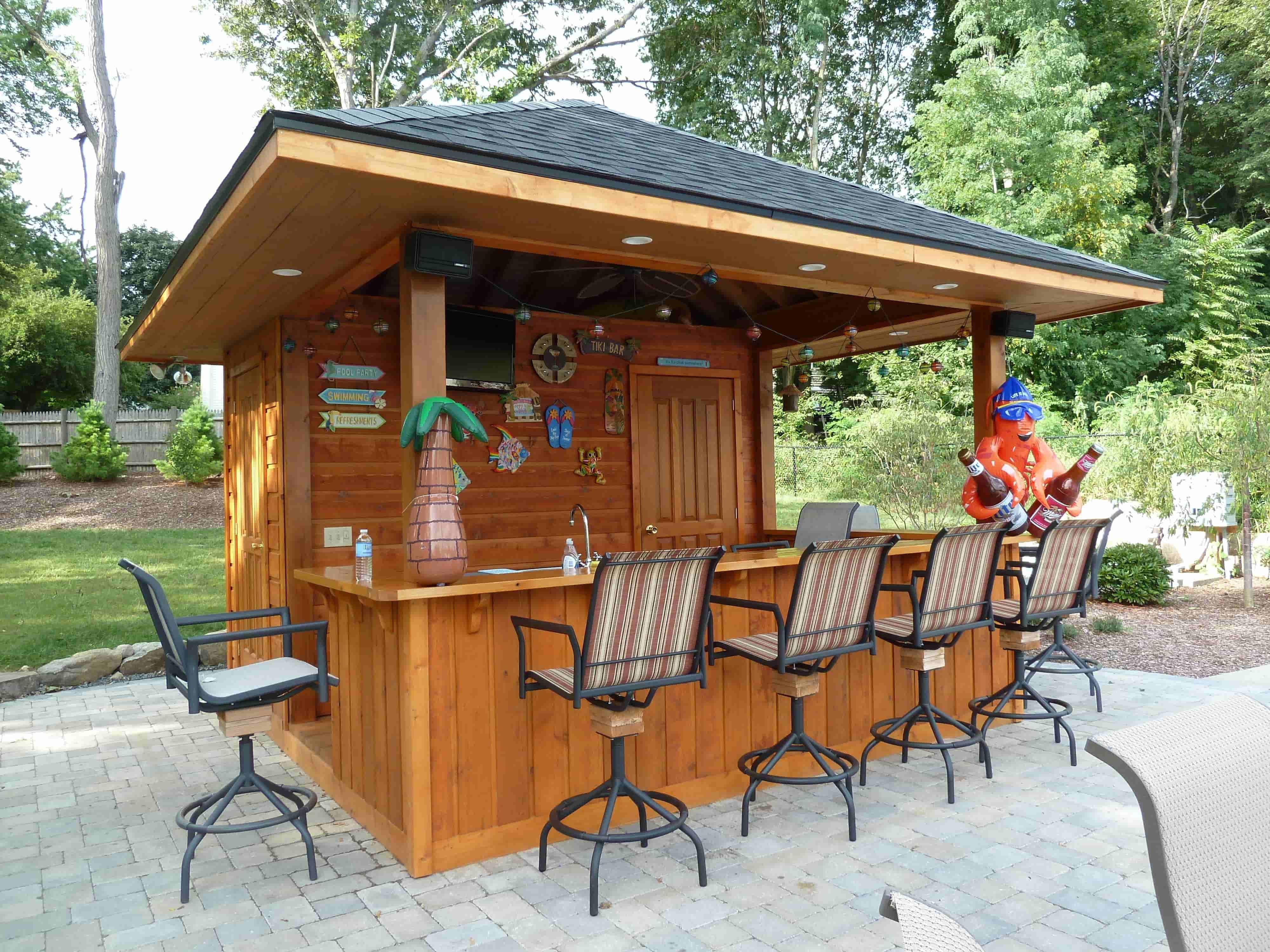 Backyard Tiki Bar | Backyard Ideas on Tiki Bar Designs For Backyard id=28355