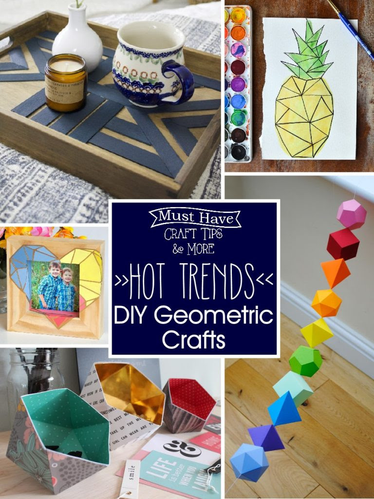 DIY Geometric Crafts are hot and oh so trendy right now!