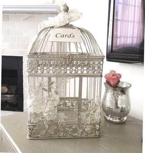Birdcage Card Holder, Elegant Money Box, Wedding Birdcage