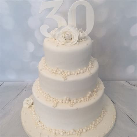 3 tier Pearl Wedding Anniversary