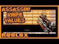 Roblox Assassin Mythic Value List