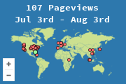 Locations of visitors to GMD 4's Blog