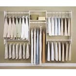 Easy Track RB1448 Closet 4 to 8-Foot Expandable Closet Organizer Starter Kit