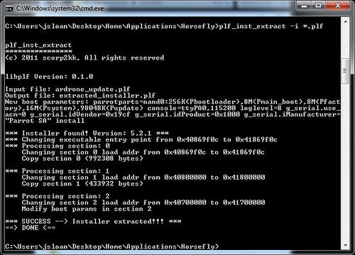 Running plf_inst_extract Against ardrone_update.plf
