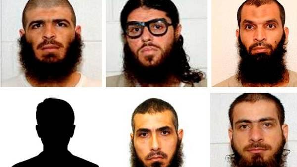 Los expresos de Guantánamo que fueron recibidos por Uruguay.