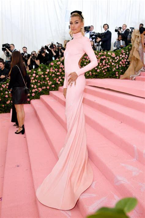 hailey baldwin met gala dress  popsugar fashion
