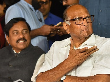 New Delhi: NCP chief Sharad Pawar with NCP MP Sunil Tatkare addresses a press conference after a meeting with Congress President Sonia Gandhi to discuss government formation in Maharashtra, in New Delhi, Monday, Nov. 18, 2019. (PTI Photo/Kamal Kishore)(PTI11_18_2019_000273B)