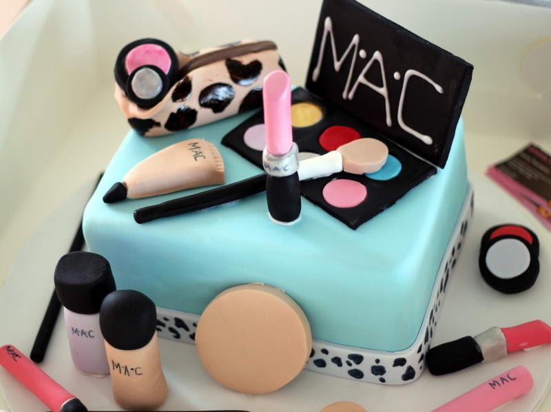 Mac Makeup Cake Design - logo design ideas