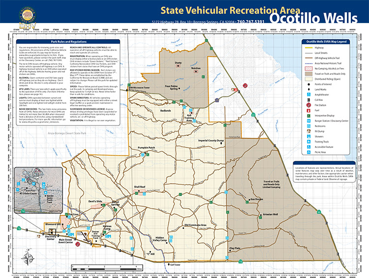 Ocotillo Wells Map Ocotillo California Map | Time Zones Map