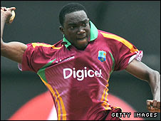 Jerome Taylor in action for the West Indies