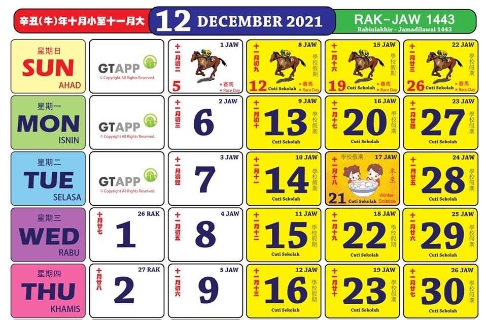 Kalender Januari 2021 Malaysia : Kalender hijriyah ...