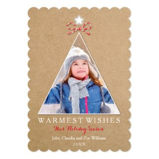 Rustic Craft Holiday Photo Card