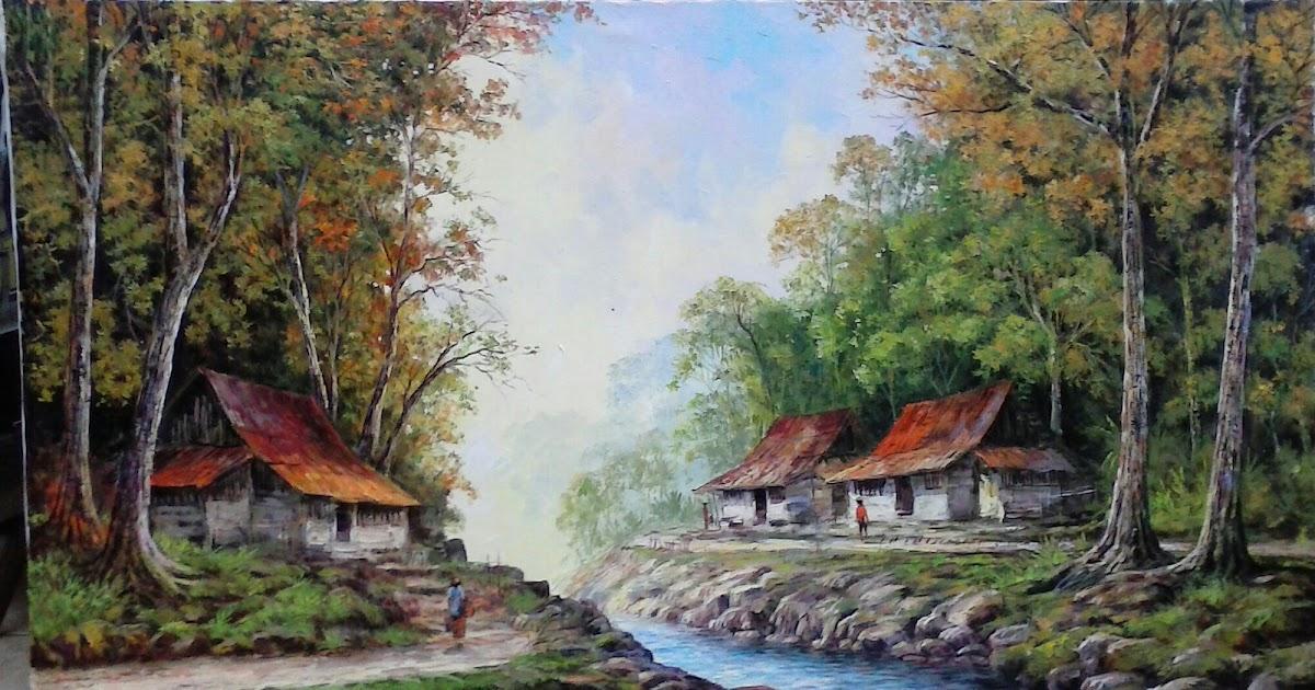 25+ Gambar Lukisan Pemandangan Pelukis - Pemandangan Indah ...