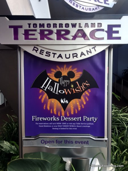 HalloWishes Dessert Party sign for Mickey's Not-So-Scary Halloween Party