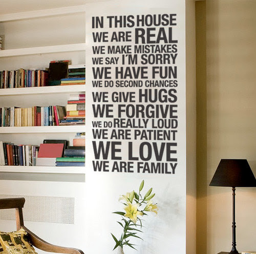 In This House Quote Sticker Home Decor For Housewares