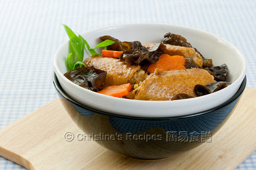 Braised Chicken Wings with Black Fungus02
