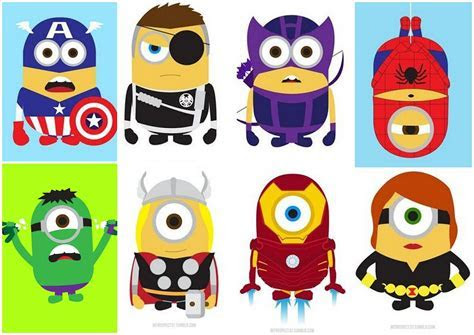 Minions Avengers.   Oh My Fiesta! for Geeks