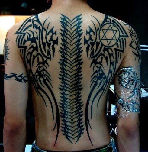 Pictures Of Tribal Wing Back Tattoo Kidskunstinfo