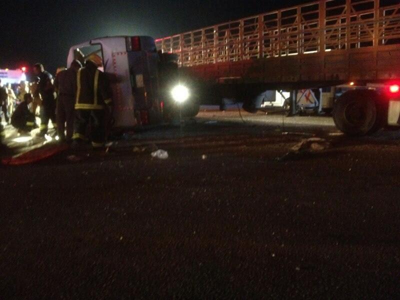 وفاة 11 مقيمًا وإصابة 14 في حادث سير بـ #الأحساء (7)