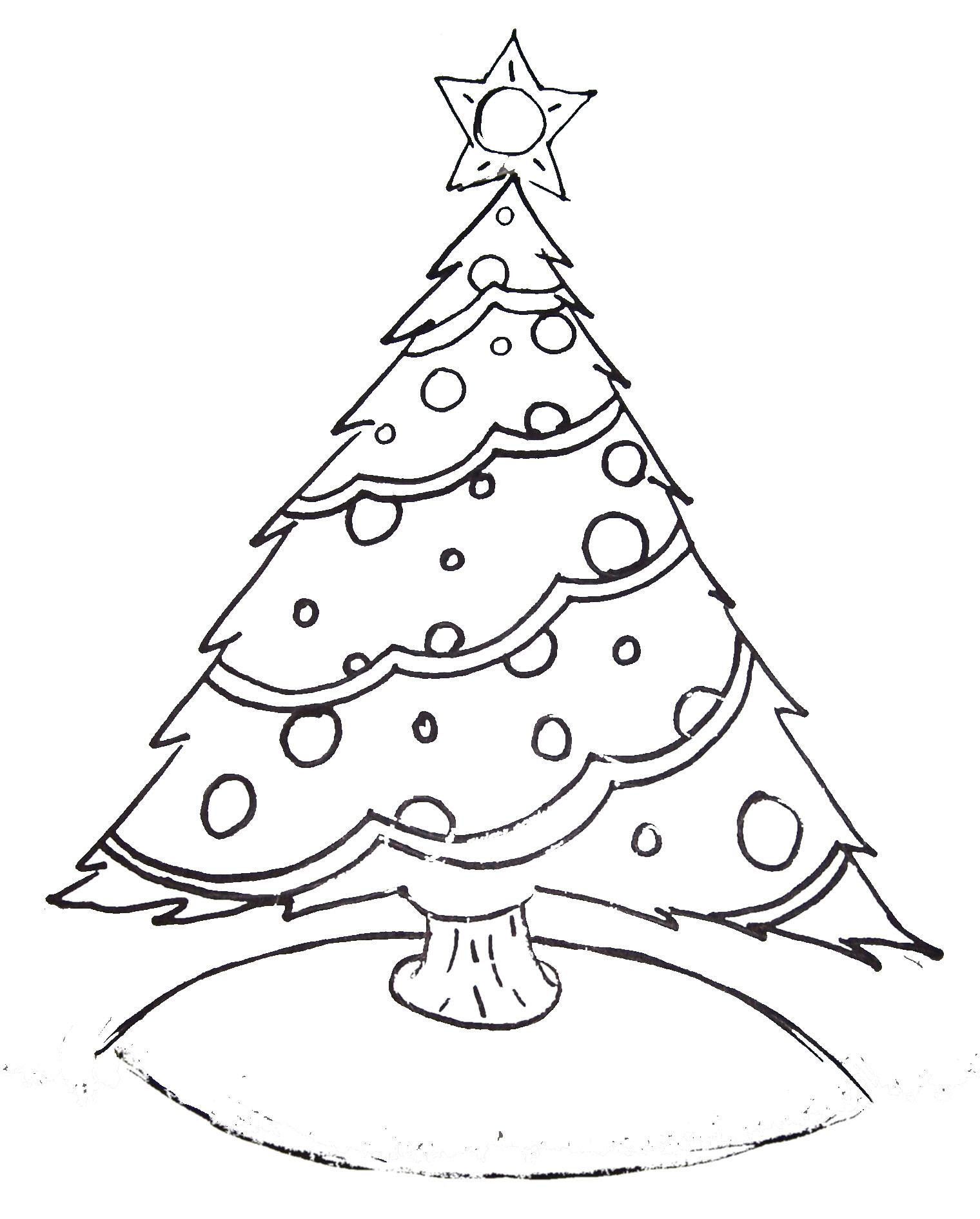 Free Printable Christmas Tree and Santa Coloring Pages ...