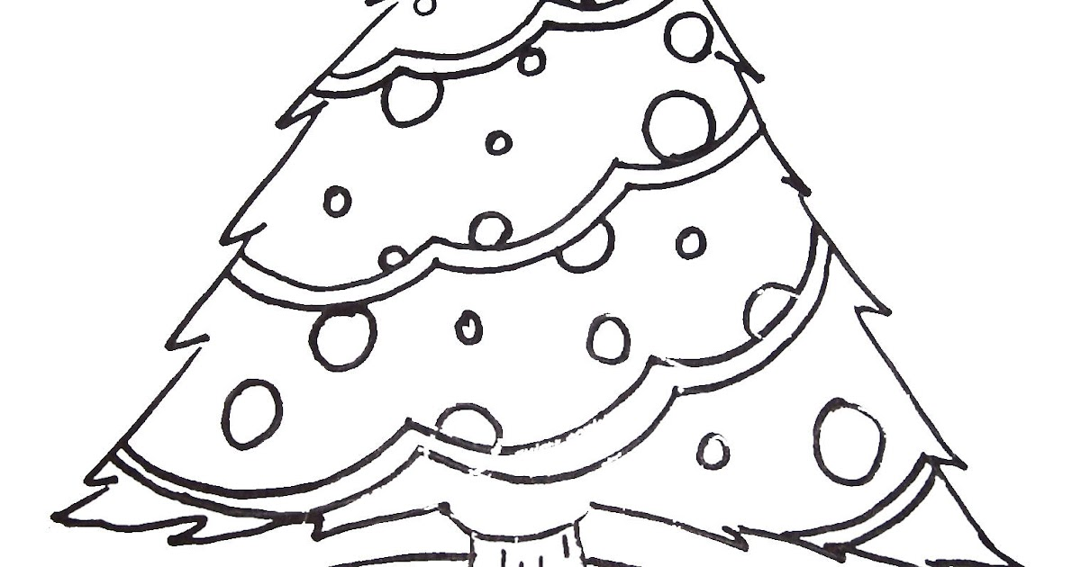 Free Printable Christmas Tree And Santa Coloring Pages