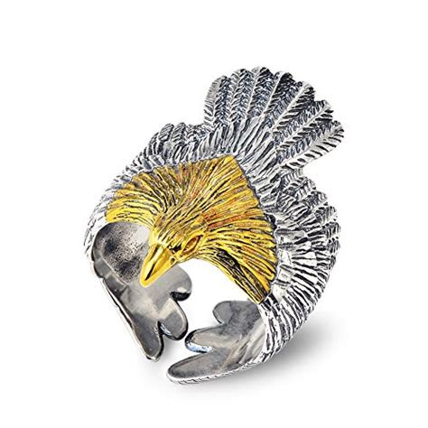 yfn mens fashion jewelry sterling silver eagle sculpture