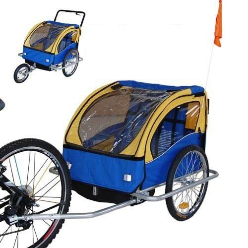Veelar Children Double Bicycle Trailer Jogging Stroller ...
