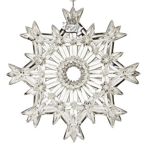 Waterford Snow Crystal Pierced Ornament 2017   Silver