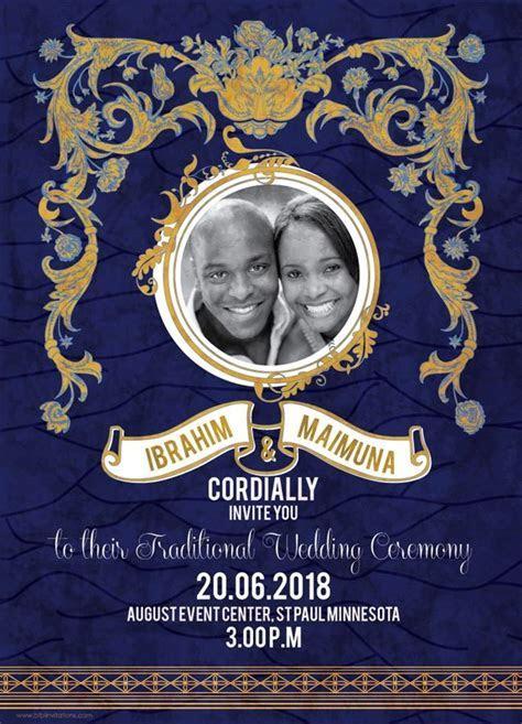 Printable African Wedding Invitation Card, Ghana Card