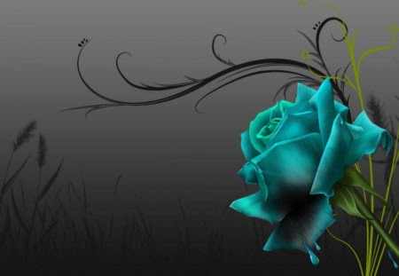 Green Rose 3d And Cg Abstract Background Wallpapers On Desktop Nexus Image 1086695