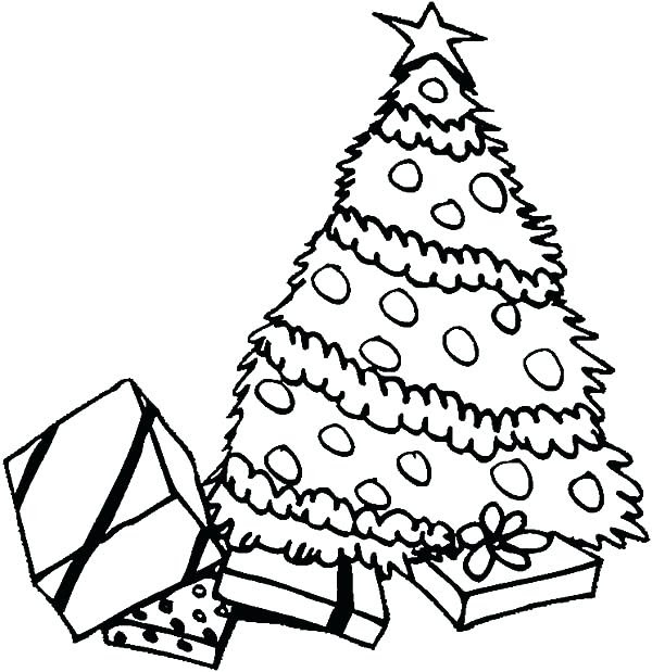Christmas Tree With Presents Drawing | Free download on ...