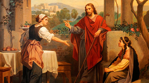 Resultado de imagem para jesus na  casa marta e maria