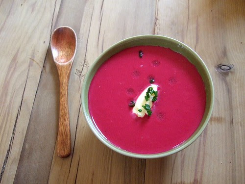 Sportsman beetroot soup