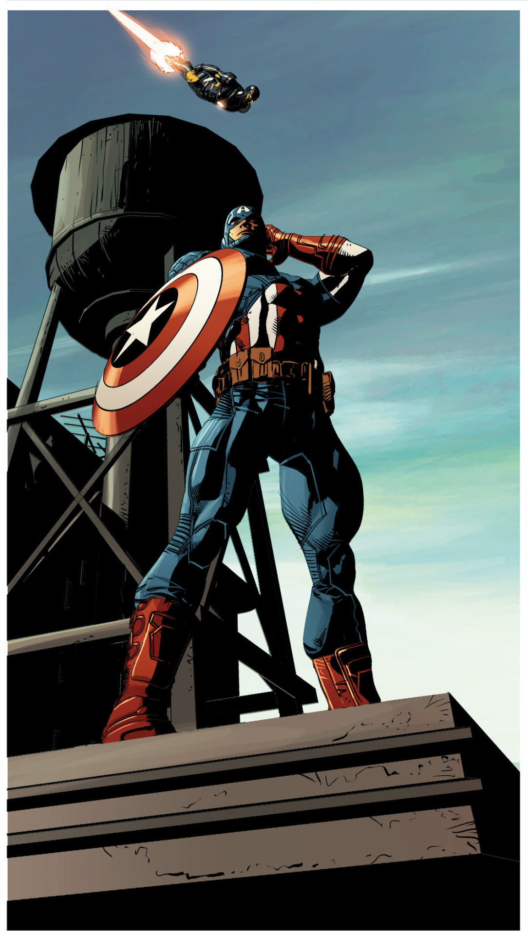 Captain America. Colors by Frank Martin