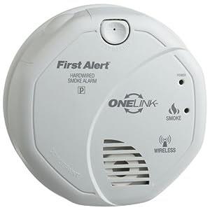 carbon monoxide alarm first alert sa521cn onelink hardwire wireless smoke al. Black Bedroom Furniture Sets. Home Design Ideas