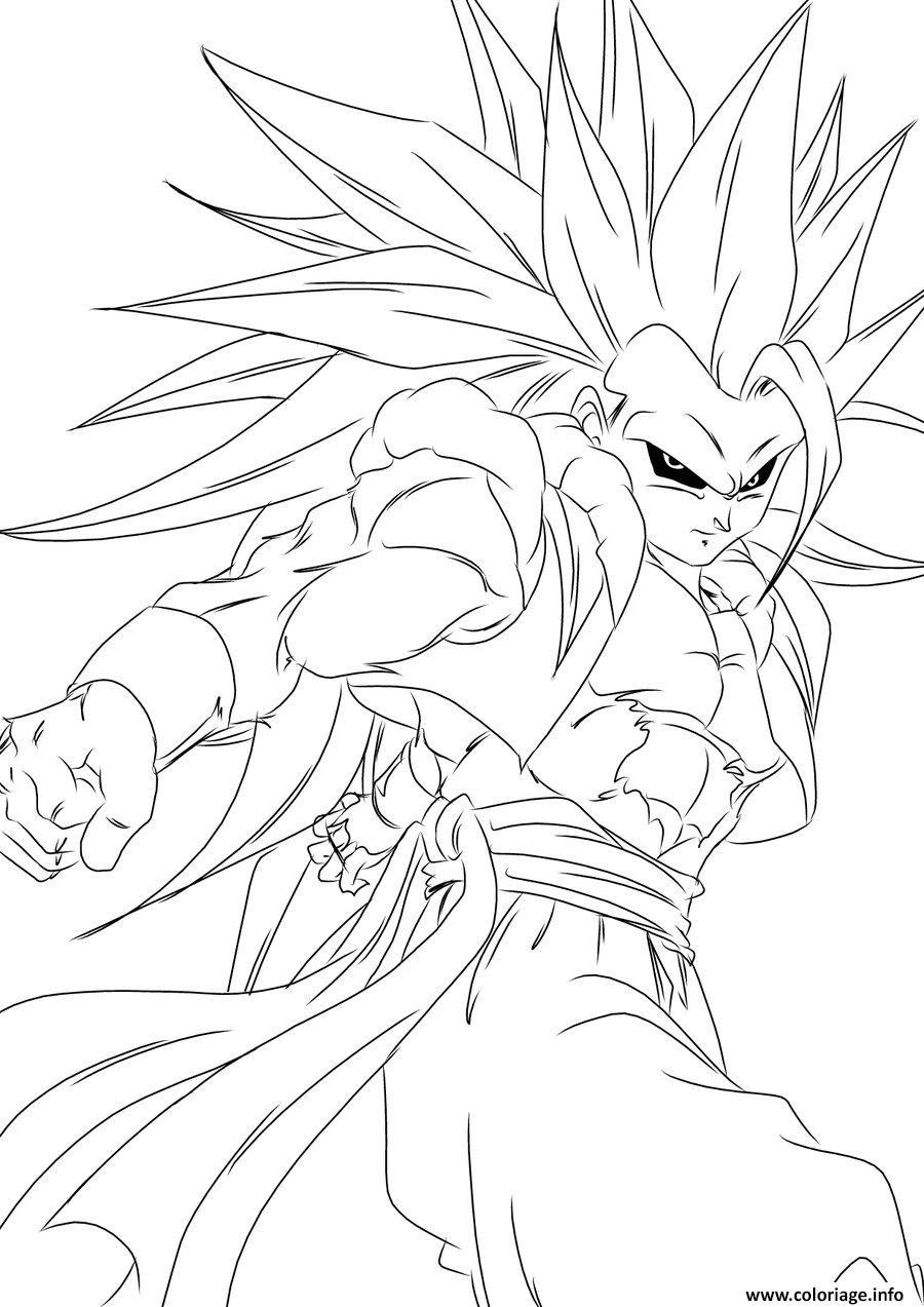 Coloriage Dragon Ball Z Sangoku Super Sayen Jecoloriecom