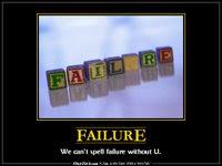 Failure de-motivational poster from slapfish.com
