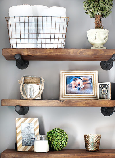DIY Restoration Hardware-Inspired Shelves / 7thhouseontheleft.com