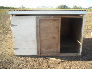 Goat Shed Redesign Main Door Closed, Small Door Open