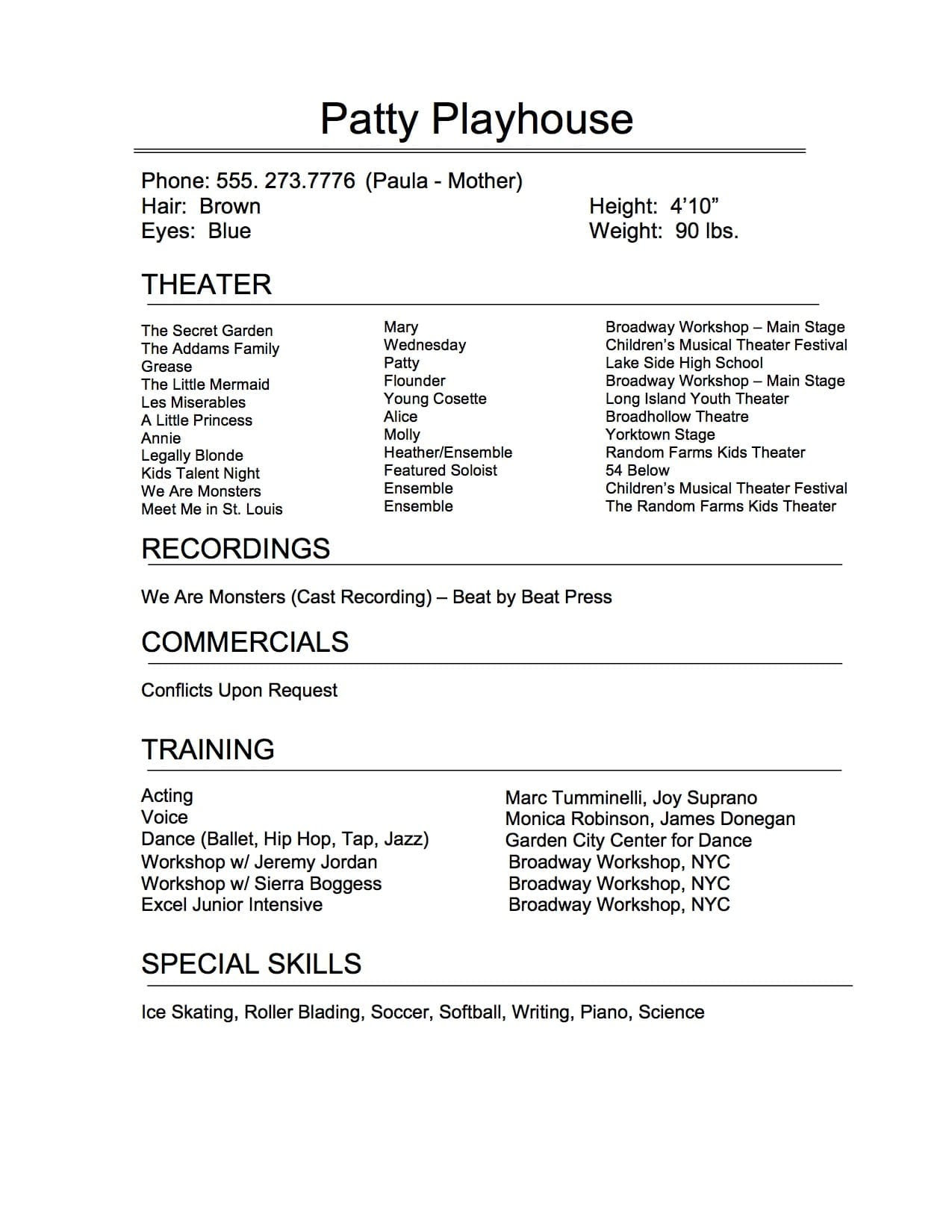Theatre Resume Template from lh5.googleusercontent.com