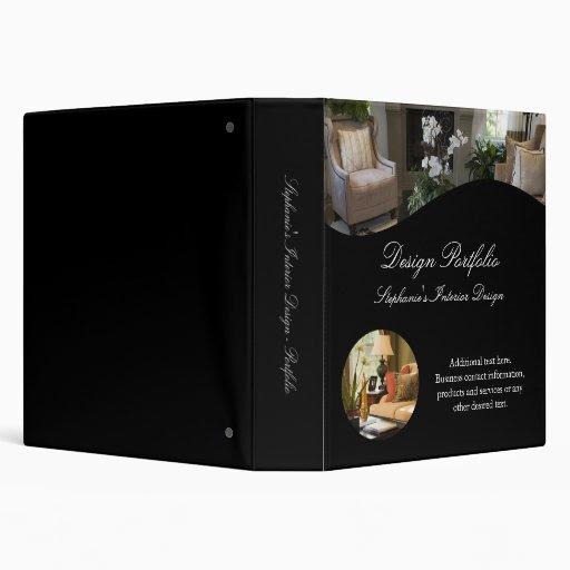 Luxury Interior Design Portfolio Binder Vinyl Binder   Zazzle