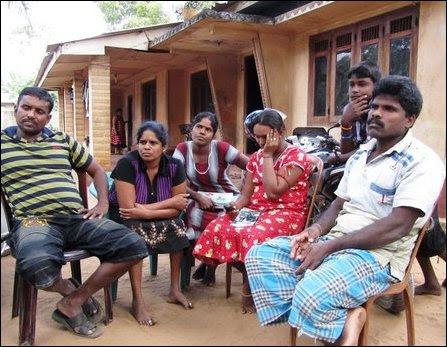 The family members of Nesarajah