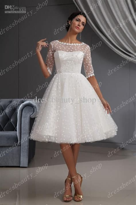 2013 Elegant Dotted Tulle Lace Hem Short Knee Length