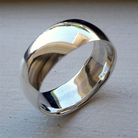 8mm 925 STERLING SILVER MANS WEDDING BAND RING SIZES 5 14