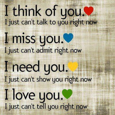 I Think Of You I Miss You I Need You I Love You Love