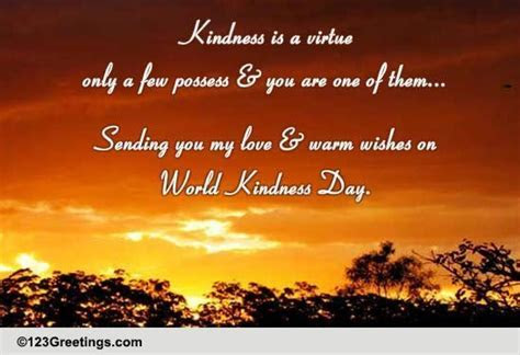 Warm Wishes On World Kindness Day. Free World Kindness Day