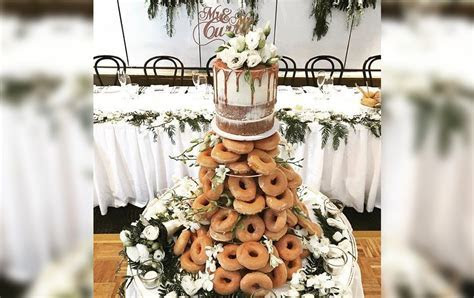 A Literal Pile Of Doughnuts Is The Wedding Cake You Never