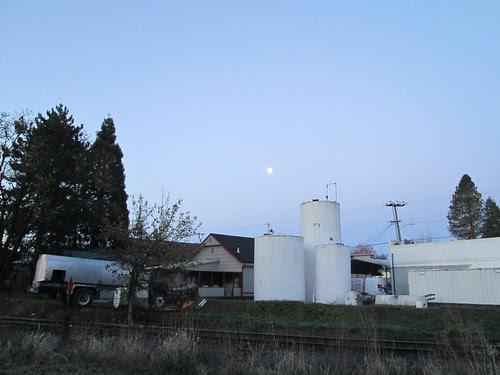 Moon over Banks